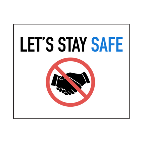 """Let's Stay Safe"" COVID-19 Vinyl Decal"