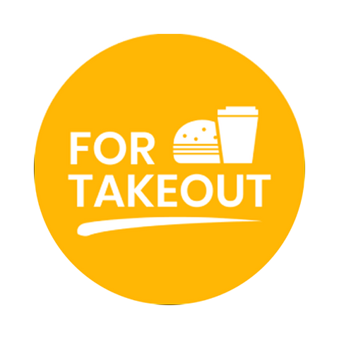 """For Takeout"" COVID-19 Vinyl Decal (2"")"