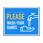 """Please Wash your Hands"" COVID-19 Vinyl Decal"