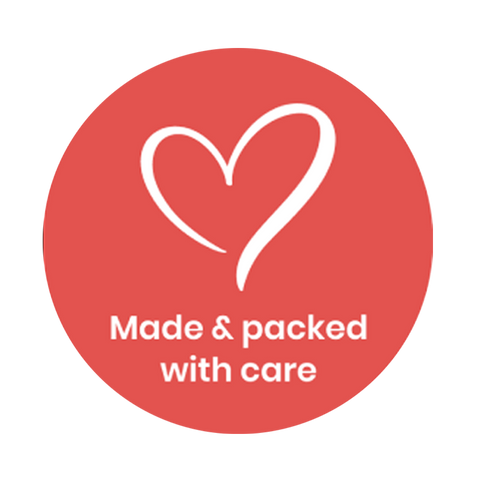 """Made & Packed With Care"" COVID-19 Vinyl Decal (2"")"