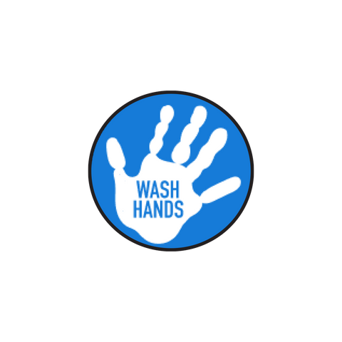 """Wash Hands"" COVID-19 Vinyl Decal (2"")"
