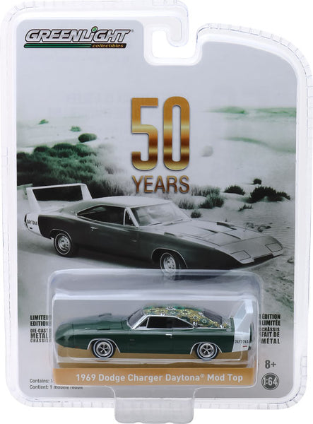 Greenlight 1:64 Anniversary Collection Series 7 - 1969 Dodge Charger Daytona Mod Top 50th Anniversary