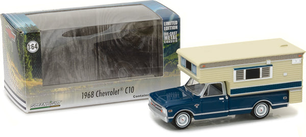 Greenlight 1:64 1968 Chevy C10 Cheyenne with Large Camper (Hobby Exclusive)