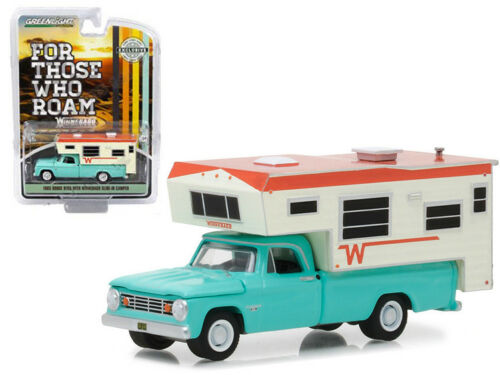 Greenlight 1:64 1965 Dodge D-100 with Winnebago Slide-In Camper (Hobby Exclusive)