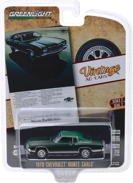 "Greenlight 1:64 Vintage Ad Cars Series 2 - 1970 Chevrolet Monte Carlo ""A Group Picture of all the Cars in Monte Carlo's Field"""