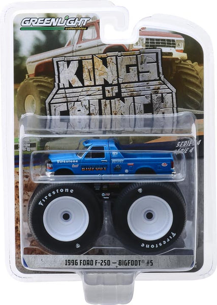 Greenlight 1:64 Kings of Crunch Series 4 - Bigfoot #5 - 1996 Ford F-250 Monster Truck