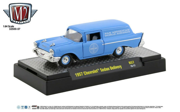 1:64 M2 Machines *PAN AM* R57* Blue 1957 Chevrolet Sedan Delivery