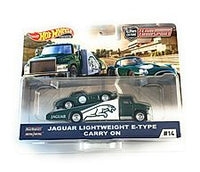 HOT WHEELS TEAM TRANSPORTER JAGUAR E TYPE & CARRY ON