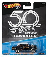 2018 Hot Wheels 50th Favorites '55 CHEVY BEL AIR GASSER Black Kroger Exclusive