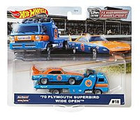 Hot Wheels Team Transport '70 Plymouth Superbird & Wide Open