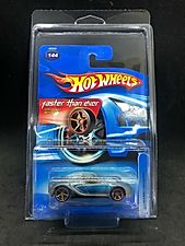 2006 Hot Wheels Bugatti Veyron (Silver + Blue) Faster Than Ever Series