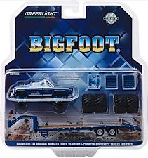 1:64 Bigfoot monster truck on a gooseneck trailer