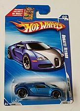 2010 Hot Wheels Hot Auction * Bugatti Veyron * Satin Blue