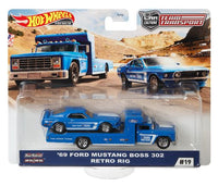 Hotwheels Team Transport '69 Ford Mustang Boss 302 & Retro Rig