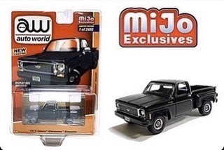 AUTO WORLD 1973 CHEVY CHEYENNE STEPSIDE SQUARE BODY TRUCK MIJO EXCLUSIVE 1/2400