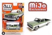 AUTO WORLD 1973 CHEVY CHEYENNE FLEETSIDE SQUARE BODY TRUCK MIJO EXCLUSIVE 1/3600