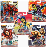 Hot Wheels 1:64 Sealed Case Pop Culture DLB45-946J Set of  Masters of the Universe
