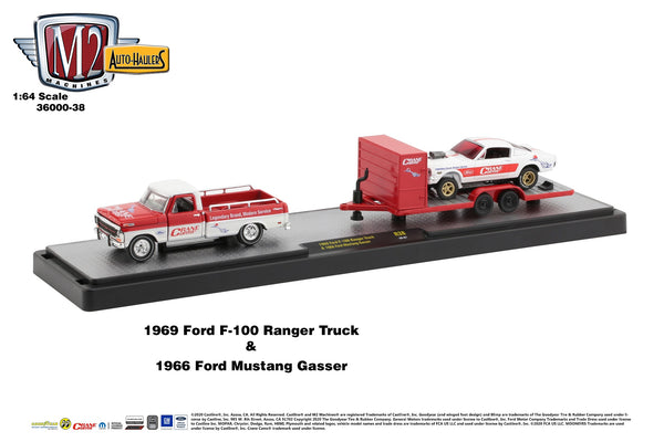 M2 Ford F100 Ranger Truck 1969 & Ford Mustang Gasser 66 Crane Cams 1966. 1/64