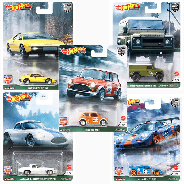 Hot Wheels FPY86-957A Car Culture British Horsepower Case