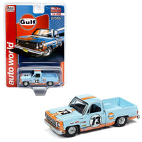 MIJO exclusive Auto World 1973 Chevrolet Cheyenne Gulf weathered w/ livery