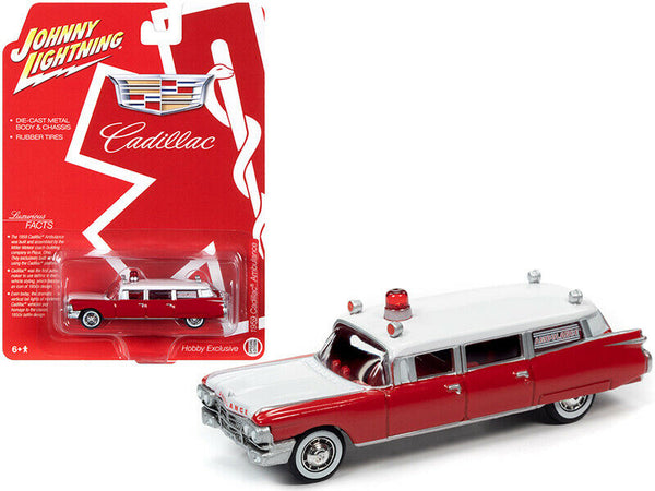 2020 JOHNNY LIGHTNING 1959 CADILLAC AMBULANCE HEARSE SPECIAL EDITION 1:64 CAR
