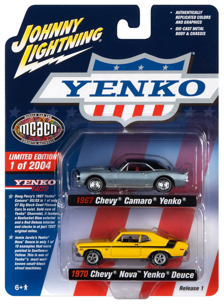 JOHNNY LIGHTNING YENKO 2021 RELEASE 1 (2-PACK) 1:64 SCALE DIECAST