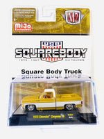 M2 MACHINES MIJO EXCLUSIVES LIQUID GOLD 1973 CHEVY CHEYENNE 10 SQUARE BODY TRUCK