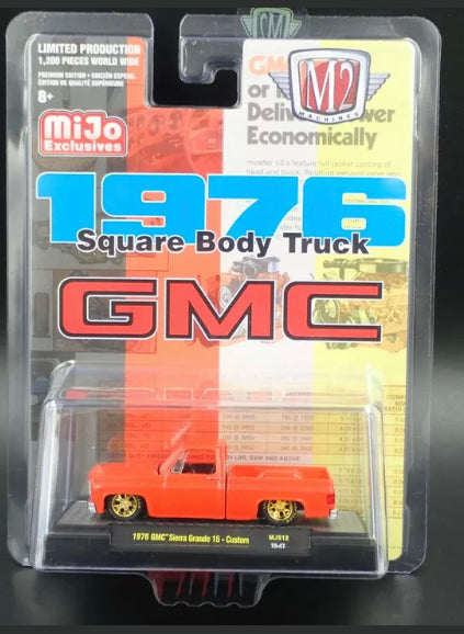 M2 MACHINES 1976 GMC SIERRA GRANDE 15 CUSTOM SQUARE BODY TRUCK MIJO EXCLUSIVE