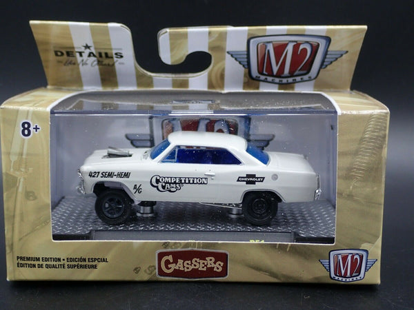 M2 MACHINES 1967 CHEVROLET NOVA COMPETITION CAMS GASSER GASSERS R51 20-05 1:64