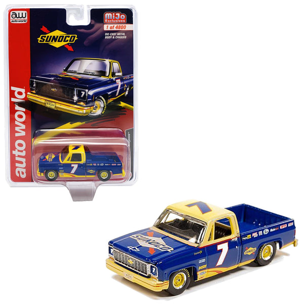 MIJO Exclusive Auto World 1973 Chevrolet Cheyenne Sunoco Racing #7 1:64 scale