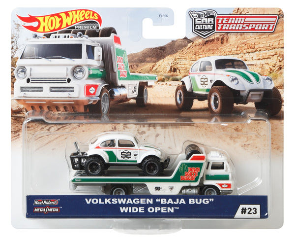 "Hot Wheels Team Transport Volkswagen ""Baja Bug"" Wide Open"