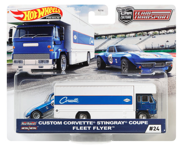 Hot Wheels Team Transport Custom Corvette Stingray Coupe Fleet Flyer