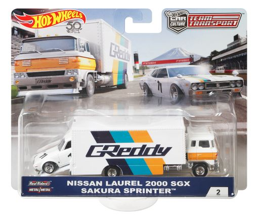 Hot Wheels Nissan Laurel 2000 SGX Sakura Sprinter GREDDY Team Transporter