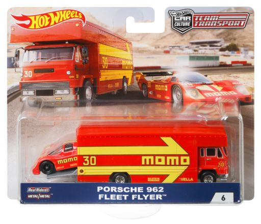 Hot Wheels Porsche 962 Fleet Flyer Team Transporter