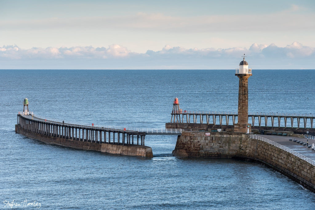 Whitby's Piers