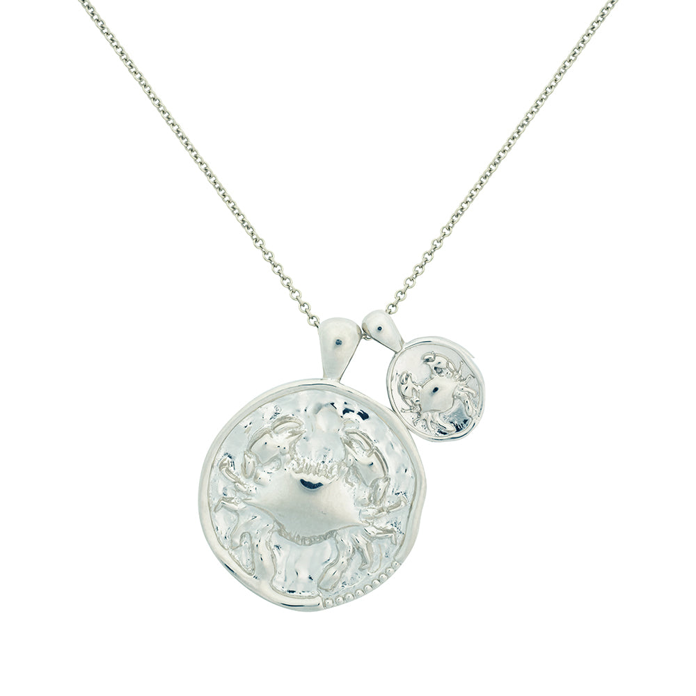Cancer II Necklace - Sterling Silver