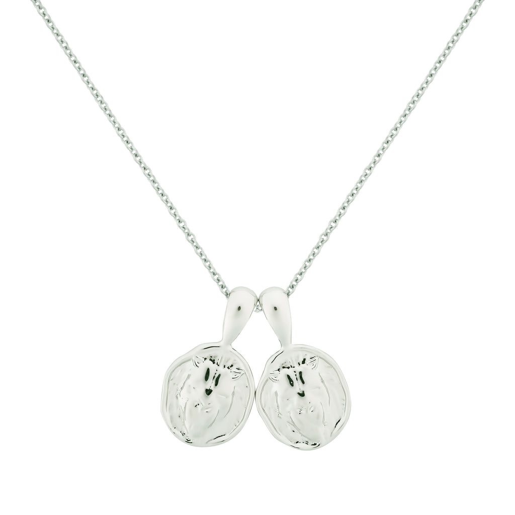 Leo II Necklace - Sterling Silver | 2 Small