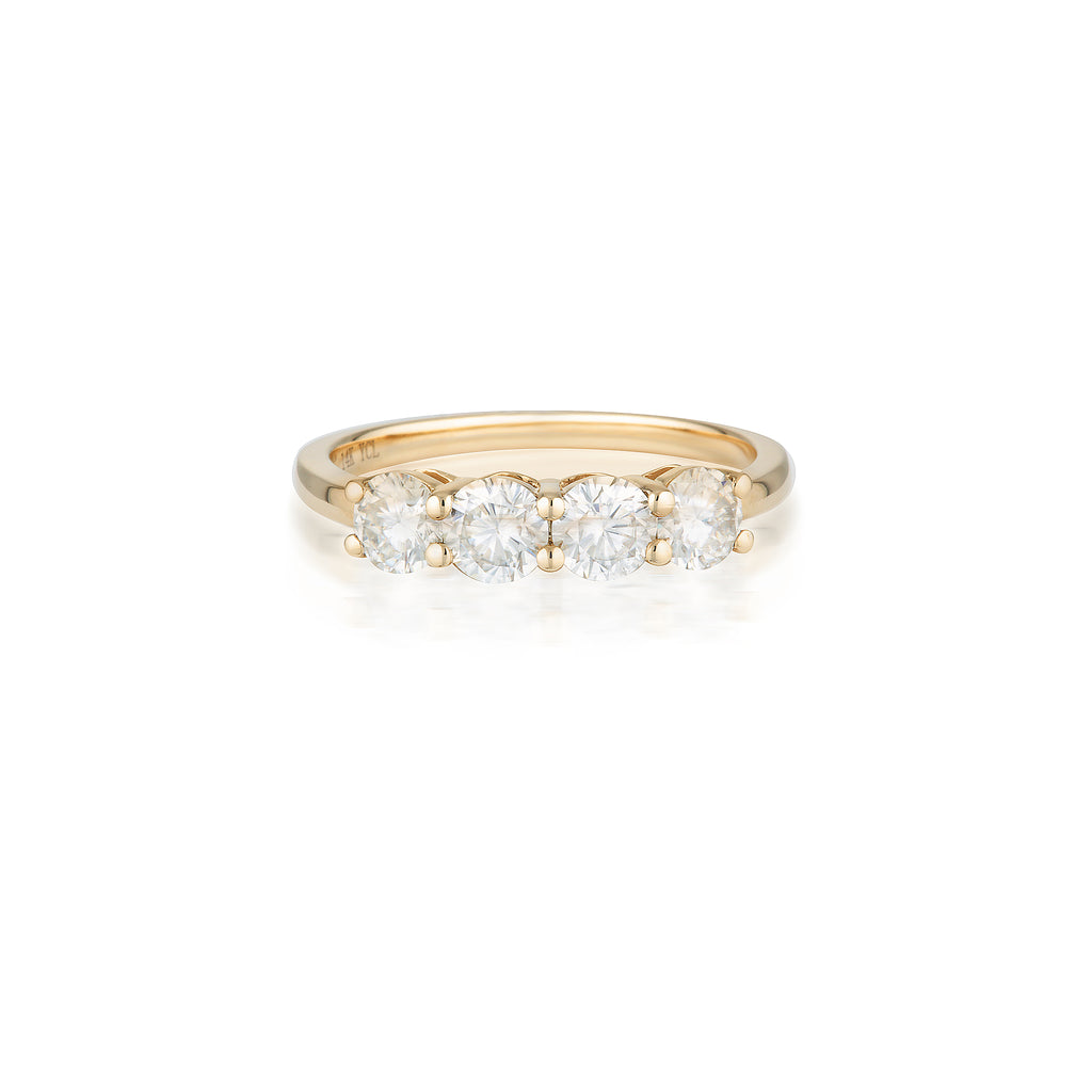 4 Moissanite Ring | 14k Solid