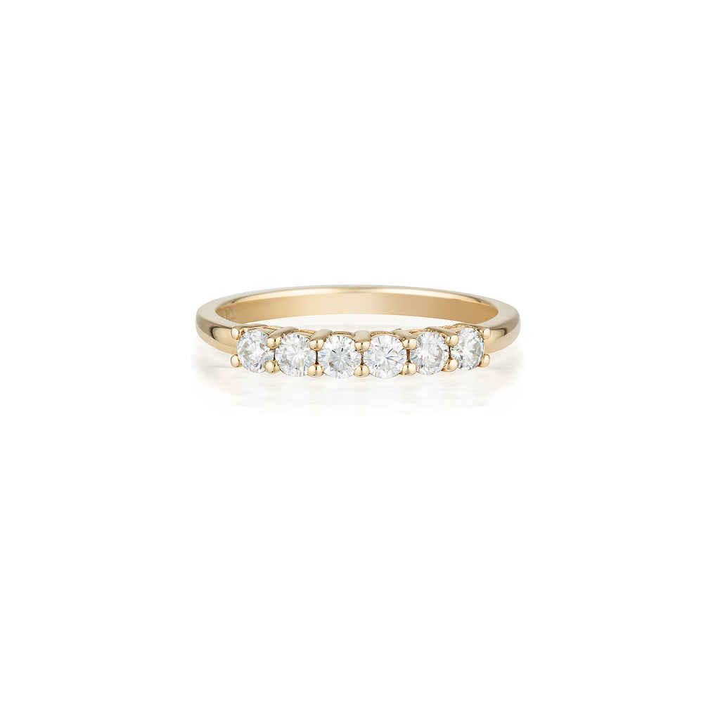 6 Moissanite Ring | 14k Solid
