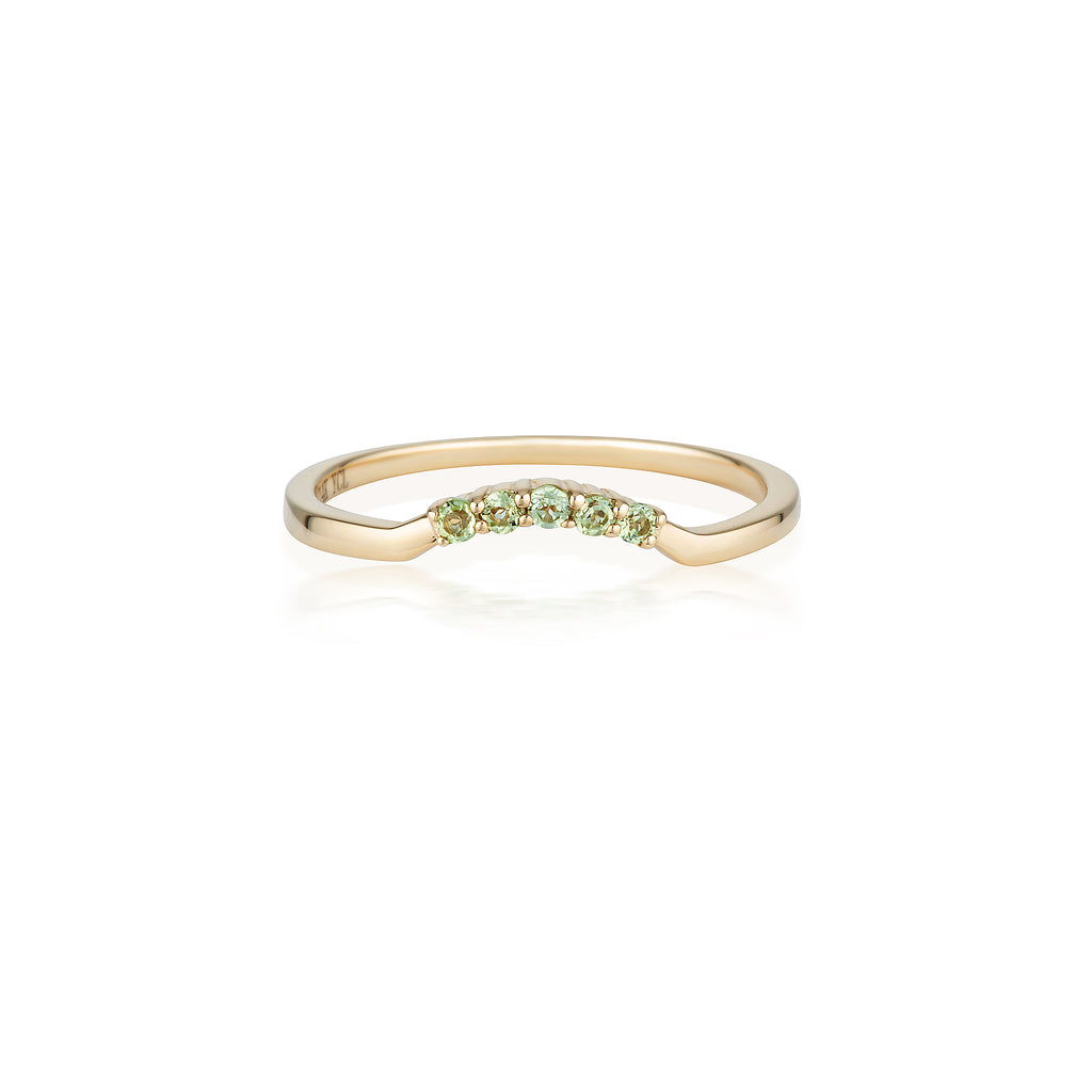 Crown Peridot Ring | 14k Solid