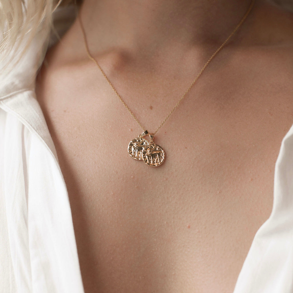 Taurus Necklace | 2 small pendants