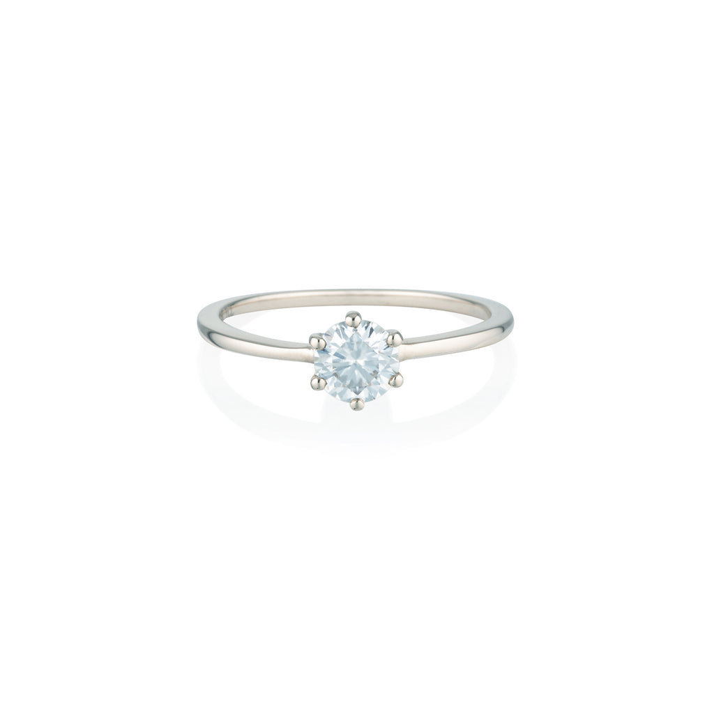 Round Moissanite Ring | 14k Solid