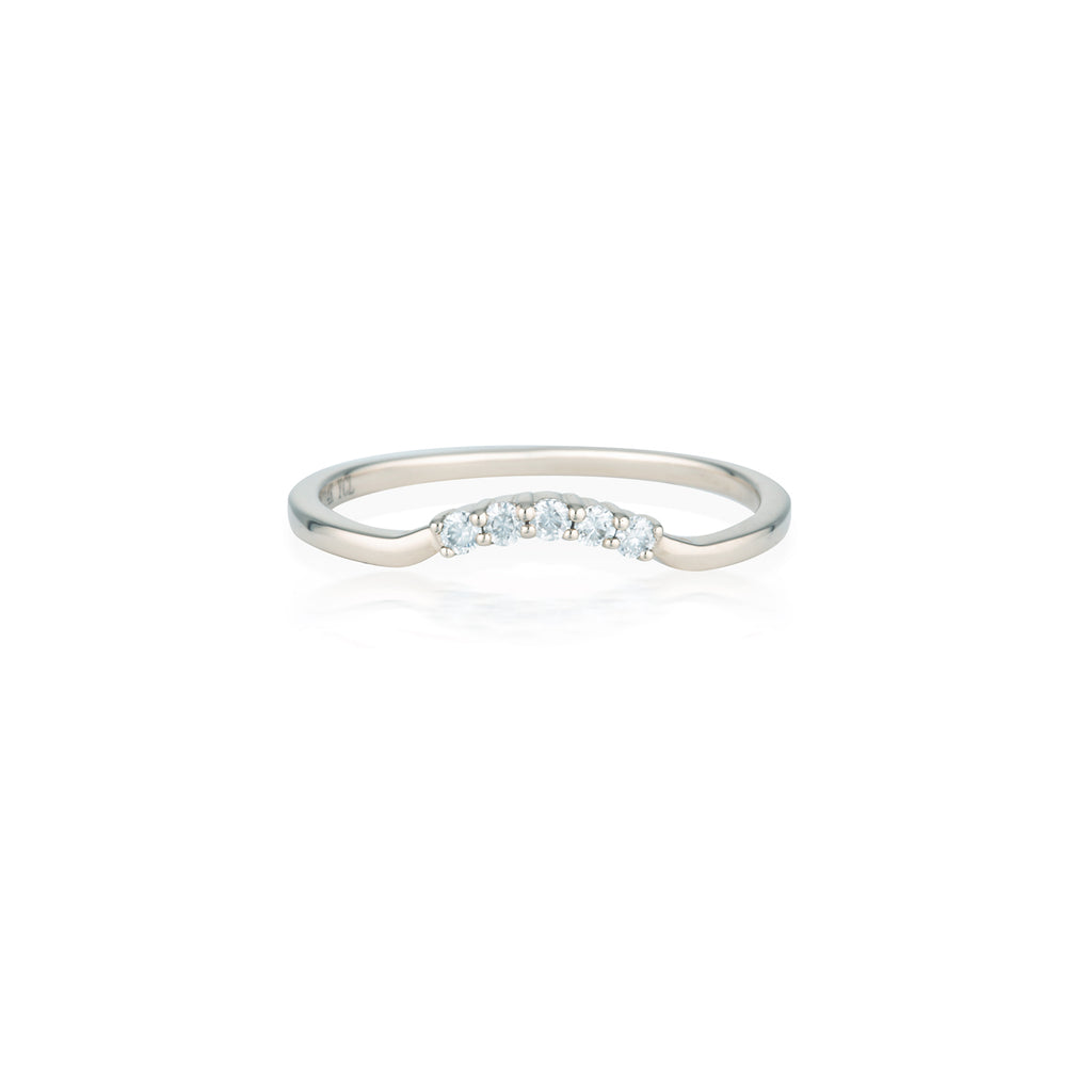 Crown Moissanite Ring | 14k Solid