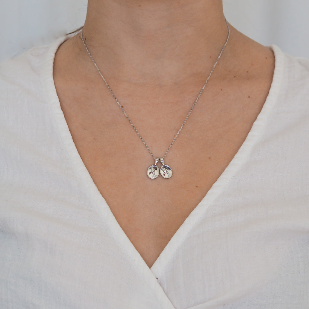 Aquarius II Necklace - Sterling Silver | 2 Small