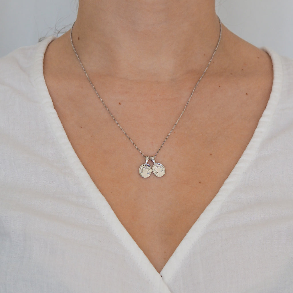 Libra II Necklace - Sterling Silver | 2 Small