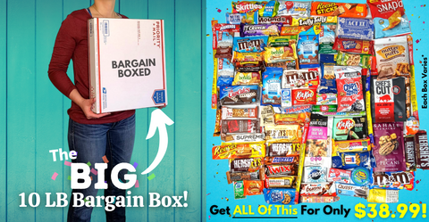 Bargain Box Of Snacks And Candy