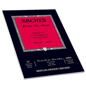 COMING SOON - Arches Oil Paper Pad (12 sheets - 31x41cm)
