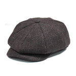 Casquette Gavroche en Tweed marron Coffee Retro