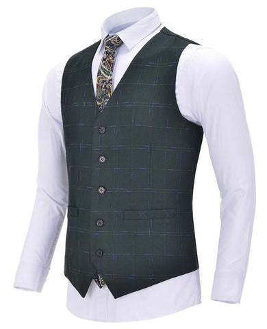 Gilet de Costume Vert - Plaid Suit | Vintage Lifestyle