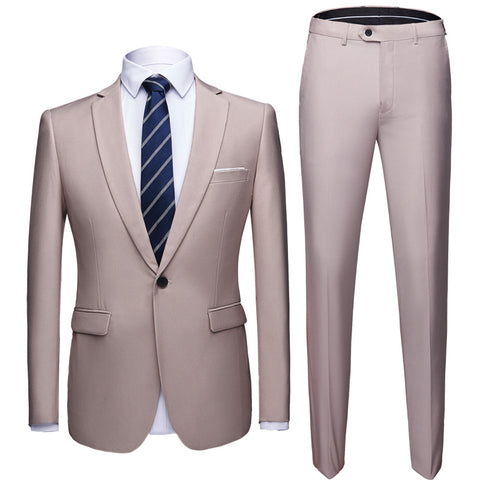 Costume Homme Beige Mariage  - Coventry Vintage
